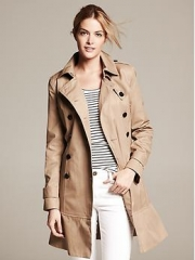 Flared Trench at Banana Republic