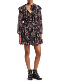 Fleeting Floral Tie Flounce Dress at Saks Fifth Avenue