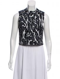 Flock Printed Crop Top by Proenza Schouler at The Real Real