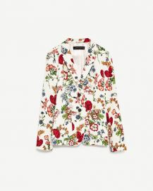 Floral Print Jacket at Zara