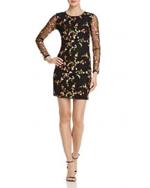 Floral  embroidered dress at Bloomingdales