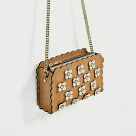 Floral Applique Crossbody Bag at Zara