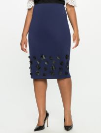 Floral Applique Pencil Skirt by Eloquii at Eloquii
