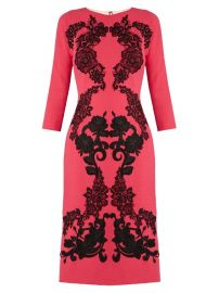 Floral Applique Wool Crepe Dress by Dolce  Gabbana at Bergdorf Goodman