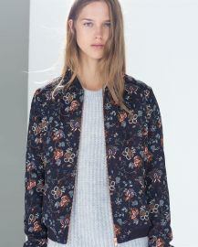 Floral Bomber Jacket at Zara