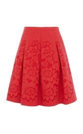 Floral Border Jacquard Skirt at Karen Millen