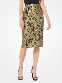 Floral Brocade Skirt at Michael Kors