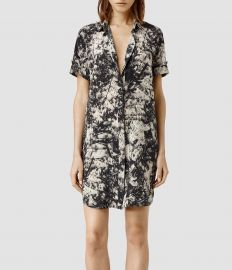 Floral Calla Shade Shirt Dress at All Saints
