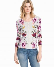 Floral Cardigan at WHBM