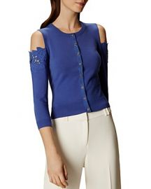Floral Cold-Shoulder Cardigan  Karen Millen at Bloomingdales