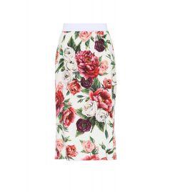 Floral Crepe Skirt by Dolce & Gabbana at Mytheresa