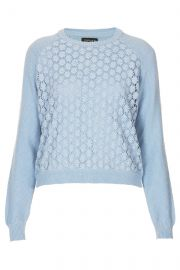 Floral Crochet Front Jumper at Topshop