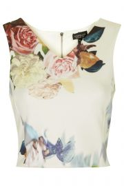 Floral Crop Top at Topshop
