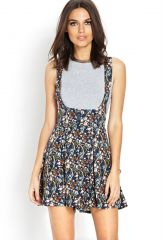 Floral Cross Back Overall at Forever 21