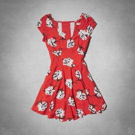 Floral Cutout Dress at Abercrombie