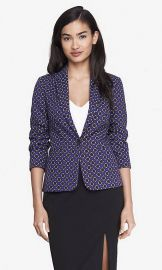 Floral Diamond Print Blazer at Express