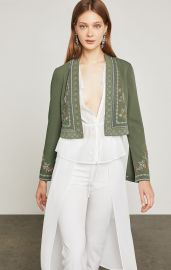 Floral Embroidered Cropped Jacket at Bcbg