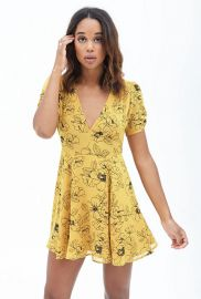 Floral Fit and Flare Dress at Forever 21