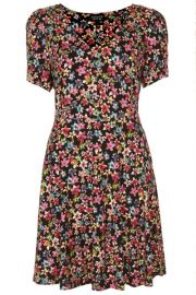 Floral Flippy Dress at Topshop