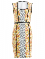 Floral Ikat Dress by Yigal Azrouel at Avenue 32