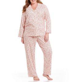 Floral Jersey Classic Pajamas by Lauren by Ralph Lauren at Dillards