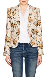 Floral Linen Canvas Single-Button Blazer at Barneys