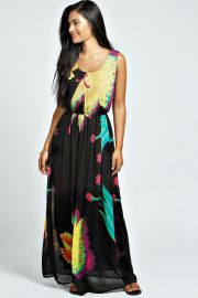 Floral Maxi Dress at Boohoo