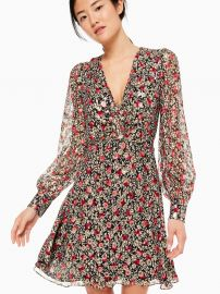 Floral Park Clip Dot Dress at Kate Spade