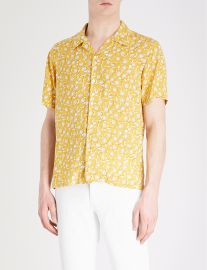 Floral-Pattern Woven Shirt by Sandro at Selfridges