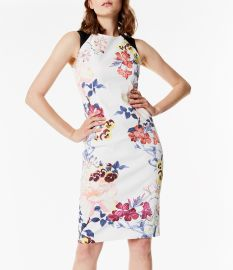 Floral Pencil Dress at Karen Millen