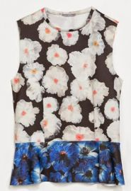 Floral Peplum Top at Zara