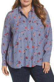 Floral Print Button Down Shirt at Lucky Brand