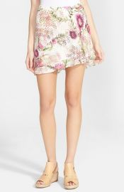 Floral Print Double Layer Silk Skirt by Haute Hippie at Nordstrom