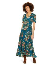 Floral Print Gauze Wrap Dress at Ralph Lauren