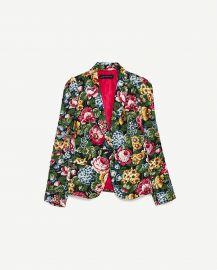 Floral Print Jacket by Zara at Zara
