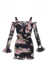 Floral Print Mini Dress by Alessandra Rich at Moda Operandi