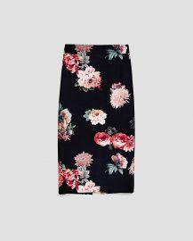 Floral Print Pencil Skirt by Zara at Zara