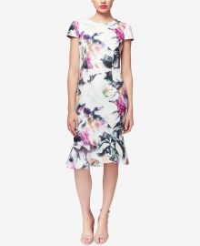 Floral-Print Ruffle-Hem Dress by Betsey Johnson at Macys