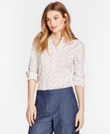 Floral-Print Stretch Cotton Poplin Shirt at Brooks Brothers