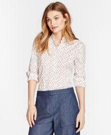 Floral-Print Stretch Cotton Poplin Shirt at Brooks Brothers