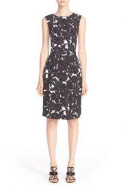 Floral Print Stretch Silk Dress by Oscar de la Renta at Nordstrom Rack