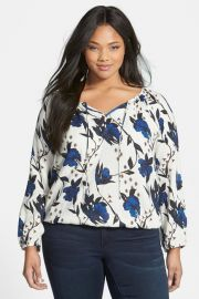 Floral Print Top Plus Size at Nordstrom Rack