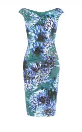 Floral Print V-neck Dress at Karen Millen