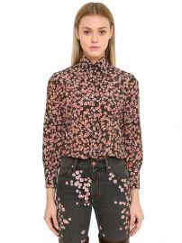 Floral Printed Silk Crepe Shirt by Isabel Marant at Luisaviaroma