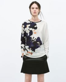 Floral Printed T-shirt at Zara