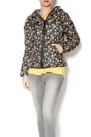 Floral Puffer Jacket at Shoptiques