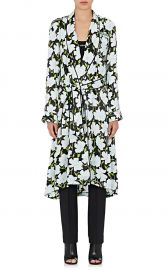 Floral Satin Robe Coat by Off White c/o Virgil Abloh at Barneys