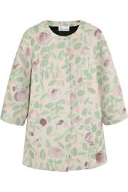 Floral Scuba Coat at Net A Porter