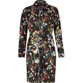Floral Shirt Dress at River Island