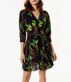 Floral Silk Dress by Karen Millen at Karen Millen
